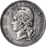 ARGENTINA. Peso, 1881. NGC AU-58.