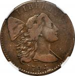 1794 Liberty Cap Cent. Head of 1794. VF-25 BN (NGC).