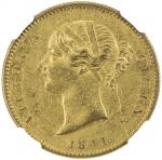 Lot 2625 BRITISH INDIA: Victoria, Queen, 1837-1876, AV mohur, 1841, KM-462.3, W W incuse on truncati