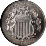 1879 Shield Nickel. Proof-68 (NGC).
