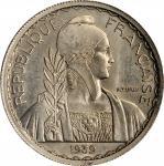 1939年20美分镍代用样币。巴黎造币厂。FRENCH INDO-CHINA. Nickel 20 Cents Essai (Pattern), 1939. Paris Mint. PCGS SPEC