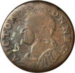 1786 Connecticut Copper. Miller 5.9-B.1, W-2635. Rarity-5. Mailed Bust Left. VG-10 (PCGS).