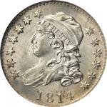 1814 Capped Bust Dime. JR-3. Rarity-2. Large Date. MS-66 (NGC).