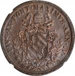 ITALY. Papal States. 5 Baiocchi, 1849-R-IV. NGC MS-62 BN.
