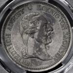 GERMANY Saxony ザクセン Taler 1827S PCGS-AU58 トーン EF+