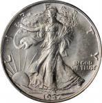 1937 Walking Liberty Half Dollar. MS-66 (PCGS).