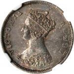 HONG KONG. Lot of (2) 5 & 10 Cents, 1874-H & 1863. NGC MS-65 & MS-63.