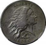 1793 Flowing Hair Cent. Wreath Reverse. S-6. Rarity-3. Vine and Bars Edge. VF-25 (PCGS).