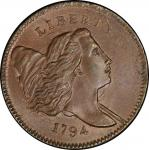 1794 Liberty Cap Half Cent. Cohen-4a. Rarity-3. Small Edge Letters. Mint State-66 BN (PCGS).