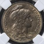 FRANCE 3rd Rep 第三共和政(1870~1940) 5Centimes 1904 NGC-MS64RB UNC