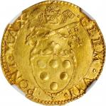 ITALY. Papal States. Scudo dOro del Sole, ND (1523-34). Bologna Mint. Clement VII. NGC MS-62.
