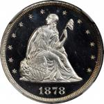 1878 Twenty-Cent Piece. Proof-67 * (NGC).
