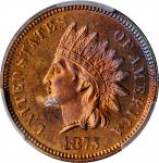 1875 Indian Cent. Proof-65 RB (PCGS).