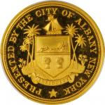 1898 City of Albany Medal in Recognition of Service in the Spanish-American War. Gold. 38 mm. 30.6 g