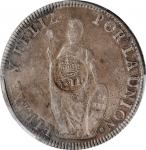 PHILIPPINES. Philippines - Peru. 8 Reales, ND (1834-37). Isabel II. PCGS Genuine--Environmental Dama