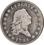 1795 Flowing Hair Half Dollar. O-102, T-26. Rarity-4. Two Leaves. Good-6 (NGC).