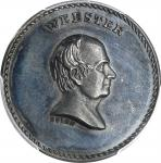 Undated (ca. 1872) Webster / The Able Defender medal. By J.A. Bolen. Silver. Thin Planchet. Musante