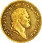 RUSSIA. Visit of Grand Duchess Catherine Pavlovna to England Gold Medal, 1814. Alexander I. NGC MS-6