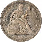 1850 Liberty Seated Silver Dollar. OC-1. Rarity-3. VF-30 (ANACS). OH.