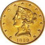 1859 Liberty Head Eagle. EF-40 (NGC).