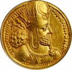 "SASSANIAN EMPIRE. Shahpur I, A.D. 240-272. AV Dinar (7.34 gms), Mint I (""Ctesiphon""), ca. A.D. 260-2"