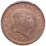 Italian coins;NAPOLI Ferdinando II (1830-1859) Tornese e mezzo 1840 - Magliocca 756 AE In slab PCGS