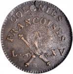 1767-A Sou. Paris Mint. Breen-701. RF Counterstamp. AU-50 (PCGS). CAC.