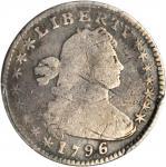 1796/5 Draped Bust Half Dime. LM-2. Rarity-6. VG Details--Bent (PCGS).