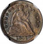 1842 Liberty Seated Half Dime. MS-66 (NGC).