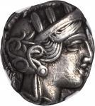 ATTICA. Athens. AR Tetradrachm (17.13 gms), ca. 440-404 B.C.