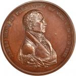 1817 James Monroe Indian Peace Medal. Large Size. Original Reverse. Bronzed Copper. 76 mm. By Moritz