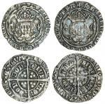Henry VII (1485-1509), Groats (2), both type IIIB, 3.00g, m.m. escallop, henric etc fran, trefoil st