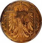 GERMANY. Copper 25 Pfennig Pattern, 1908-D. Munich Mint. PCGS SPECIMEN-64 Red Brown Gold Shield.