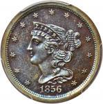 1856 Braided Hair Half Cent. Proof-64 BN (PCGS).
