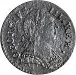 1787 Machins Mills Halfpenny. Vlack 18-87C,W-7930. Rarity-4. GEORGIVS III, Group III. Uncirculated D