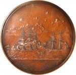 1854 (1855) Commander Duncan Imgraham / Rescue of Martin Koszta. Original Large Size. Bronzed Copper