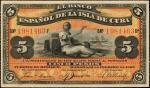 CUBA. El Banco Espanol De La Isla De Cuba. 5 Pesos, 1897. P-48c. Extremely Fine.