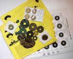 Collection of Ancient Chinese copper coins from Northern Sung Dynasty to Qing Dynasty, including a f
