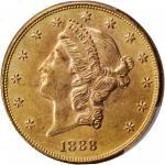 1888-S Liberty Head Double Eagle. MS-63 (PCGS).