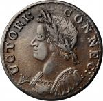 1786 Connecticut Copper. Miller 5.4-G, W-2580. Rarity-2. Mailed Bust Left. EF-45 (PCGS).