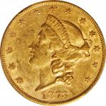 1873 Liberty Head Double Eagle. Open 3. FS-101. Doubled Die Obverse. AU-55 (PCGS).