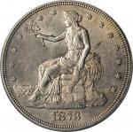 1873-CC Trade Dollar. AU-58 (PCGS).