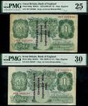 States of Guernsey overprints, Kenneth Oswald Peppiatt, 1 (2), 18 September 1941, serial number 78T