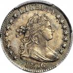 1796 Draped Bust Dime. JR-4. Rarity-4. AU Details--Cleaned (PCGS).