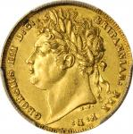 GREAT BRITAIN. Sovereign, 1821. London Mint. George IV. PCGS AU-55 Gold Shield.