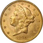 1894 Liberty Head Double Eagle. MS-62 (NGC).