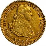 COLOMBIA. Escudo, 1810-JF. Popayan Mint. PCGS AU-55 Gold Shield.
