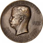 MCMV (1905) Theodore Roosevelt Inaugural Medal. Bronze. 74 mm. 122.8 grams. By Augustus Saint-Gauden
