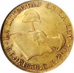 MEXICO. 8 Escudos, 1856-Do CP. Durango Mint. NGC AU-50.