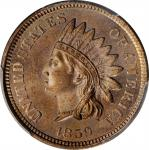 1859 Indian Cent. MS-66 (PCGS).